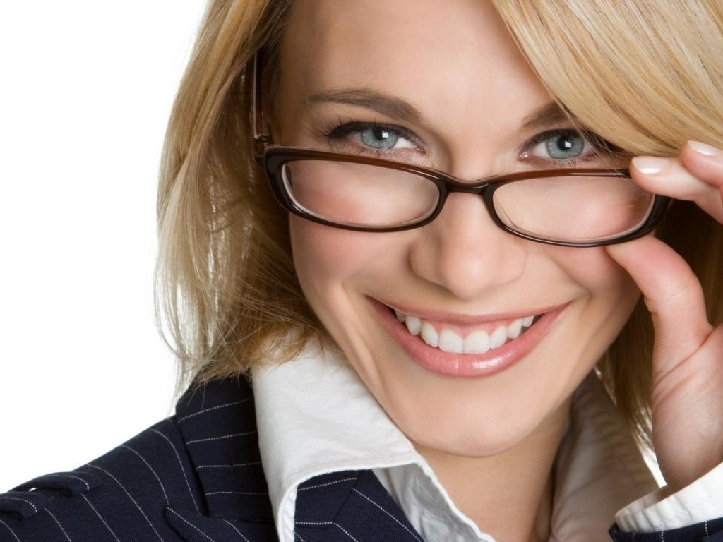 Фото дамы в очках #5