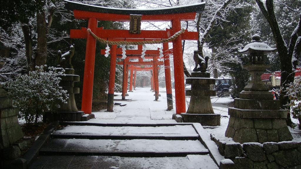 Заснеженный Киото - 18