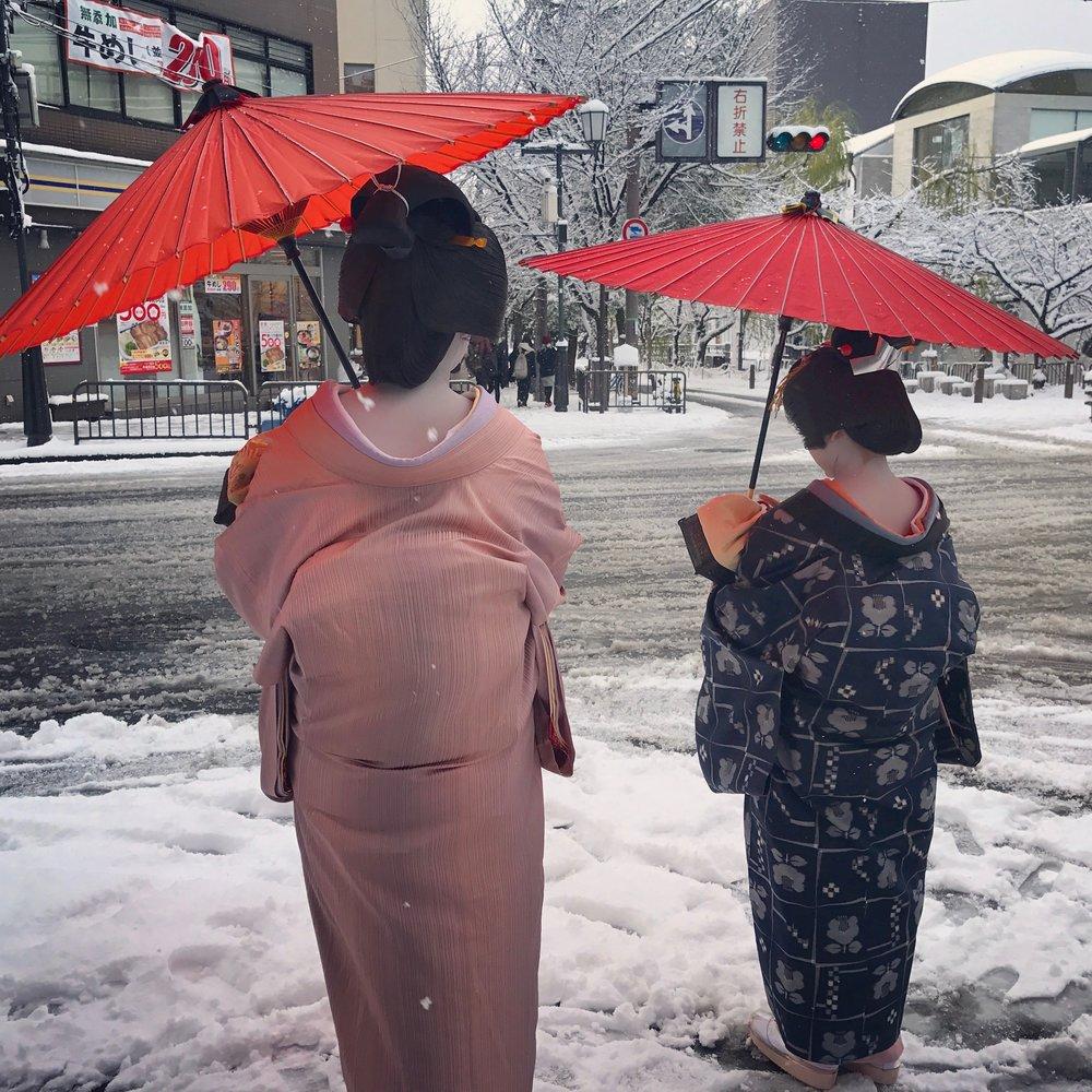 Заснеженный Киото - 19