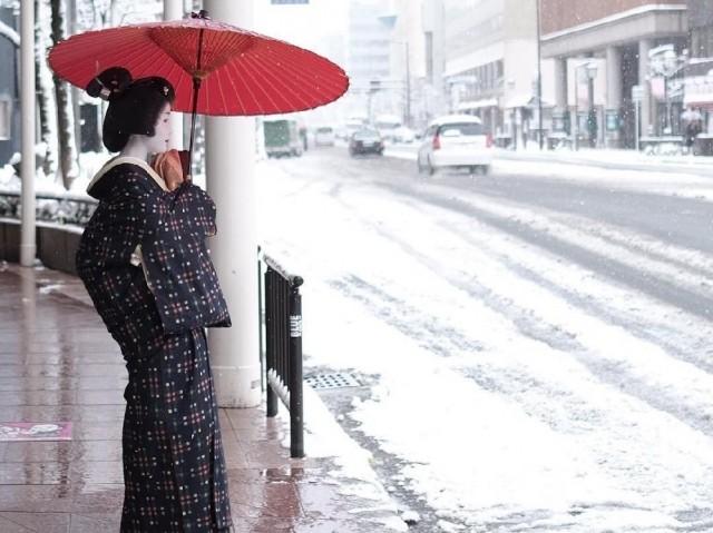 Заснеженный Киото