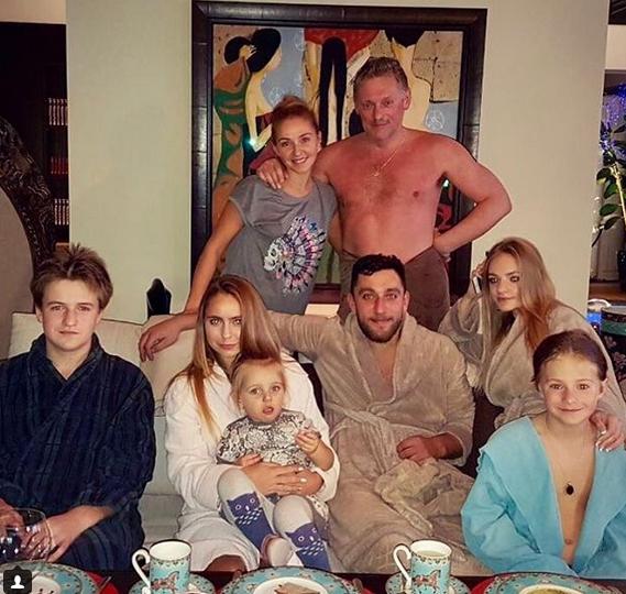 семейное фото бане с женой
