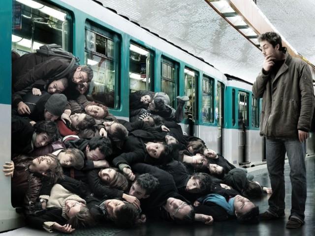 Лица в общественном транспорте