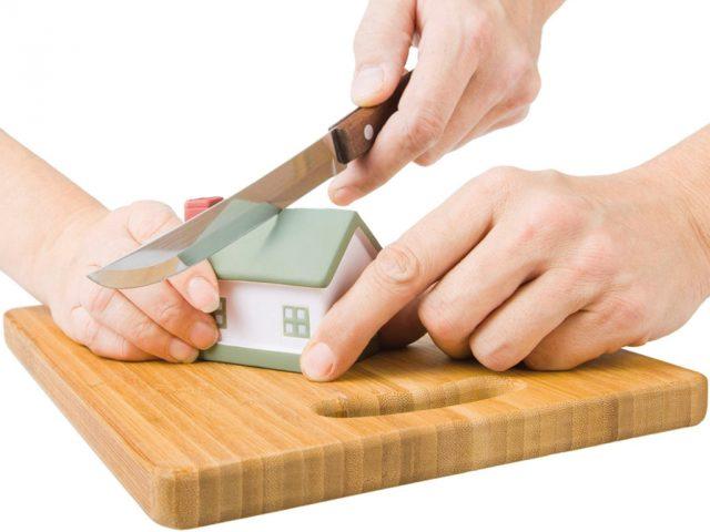 как разделить квартиру при разводе если она в ипотеке у сбербанка пытаюсь