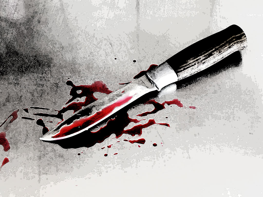 knife drawing with blood - HD 1200×800