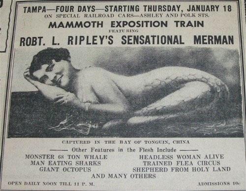 История знаменитой «девочки без костей» – «девочки-русалки», родившейся в 1901 году